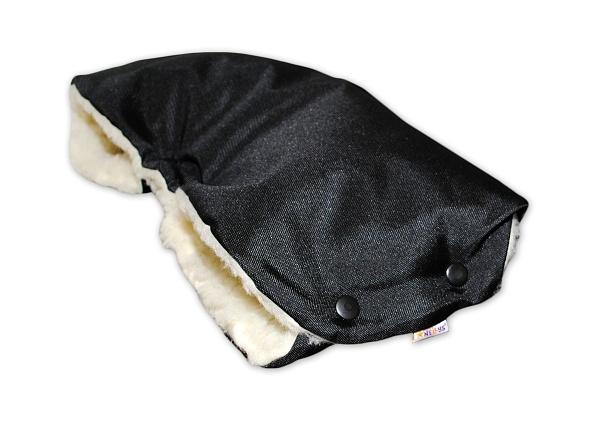 Rukávník ke kočárku Baby Nellys ® VLNA  - černý
