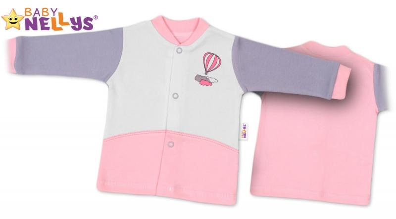 Košilka Baby Nellys ®  Balónek v růžové, vel. 62