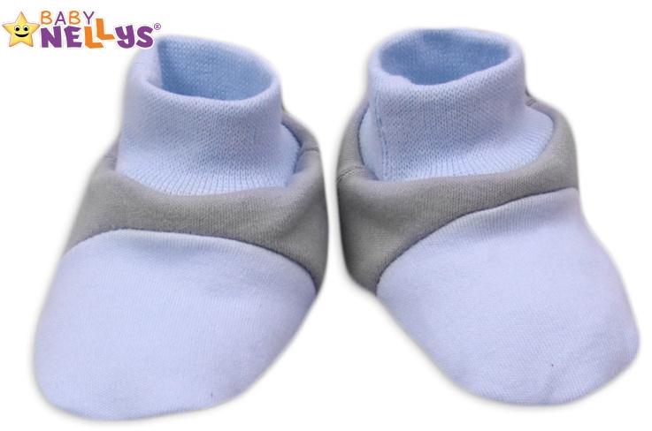 Botičky/ponožtičky Baby Nellys ® - Balónek v modré