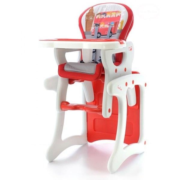 Jídelní stoleček - červený autobus (Jídelní stoleček - červený autobus, EURO BABY)