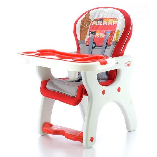 Euro Baby Jídelní stoleček 2v1 - červený autobus