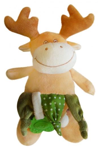 Bobo Baby Plyšová hračka s chrastítkem a kousátkem - Losík