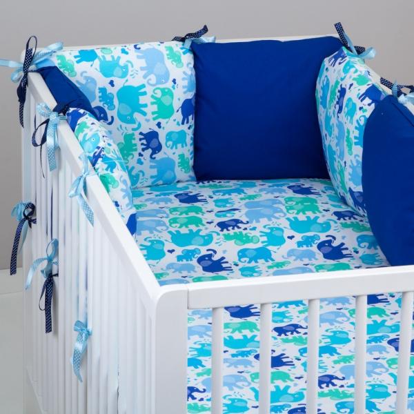 Mantinel Baby Nellys ® - polštářkový s povlečením vzor č. 340116 - 8D - 6ks polštářků cca 40x40 cm + povlečení 2D 135x100cm, na postel 140x70cm
