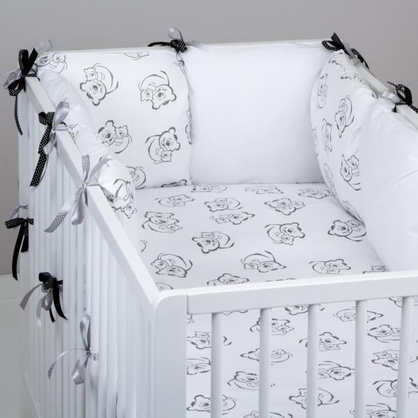 Mantinel Baby Nellys ® - polštářkový s povlečením vzor č. 345199 - 8D - 6ks polštářků cca 40x40 cm + povlečení 2D 135x100cm, na postel 140x70cm