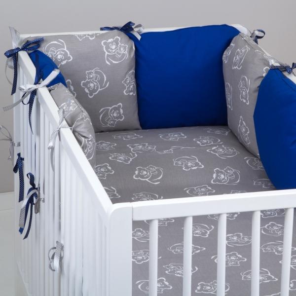 Mantinel Baby Nellys ® - polštářkový s povlečením vzor č. 346116 - 8D - 6ks polštářků cca 40x40 cm + povlečení 2D 135x100cm, na postel 140x70cm