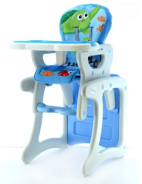 Euro Baby Jídelní stoleček 2v1 - modrý oceán, K19