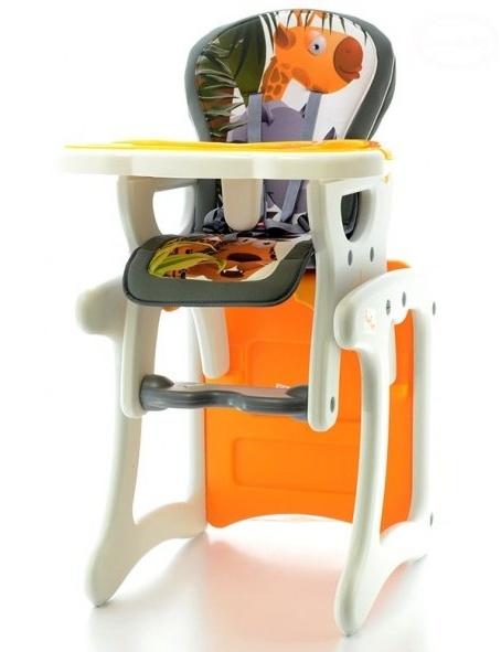 Jídelní stoleček 2v1 - Žirafa oranžová