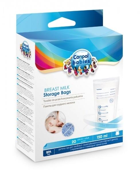 Sáčky Canpol Babies  k uchovávání odsátého mléka 20ks