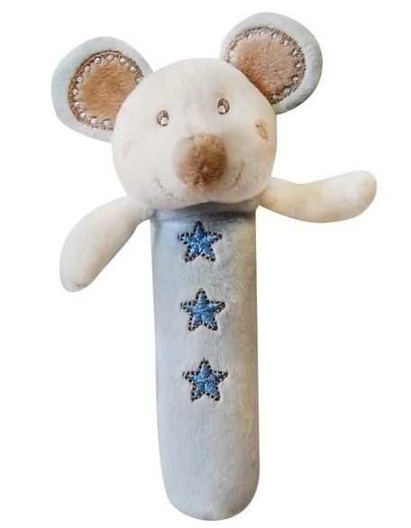 Edukační hračka Bobo Baby - pískátko - Myška modrá