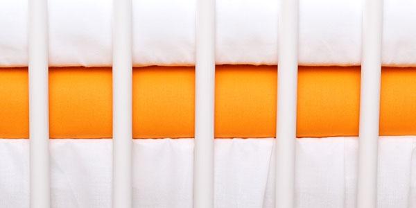 Baby Nellys Jersey prostěradlo oranžové 120x60