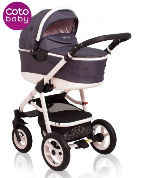 Kočárek Aprilia Coto Baby 2v1 - dark grey