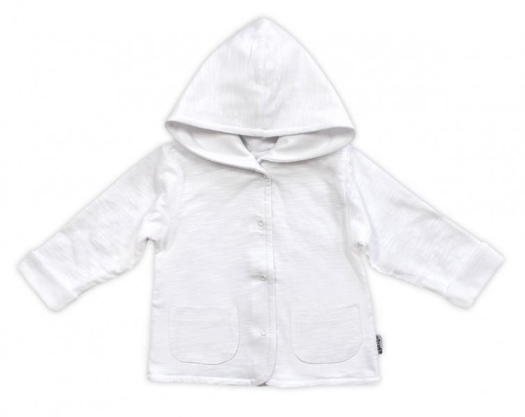 Bundička/kabátek NICOL ELEGANT BABY BOY - vel. 80, bílá