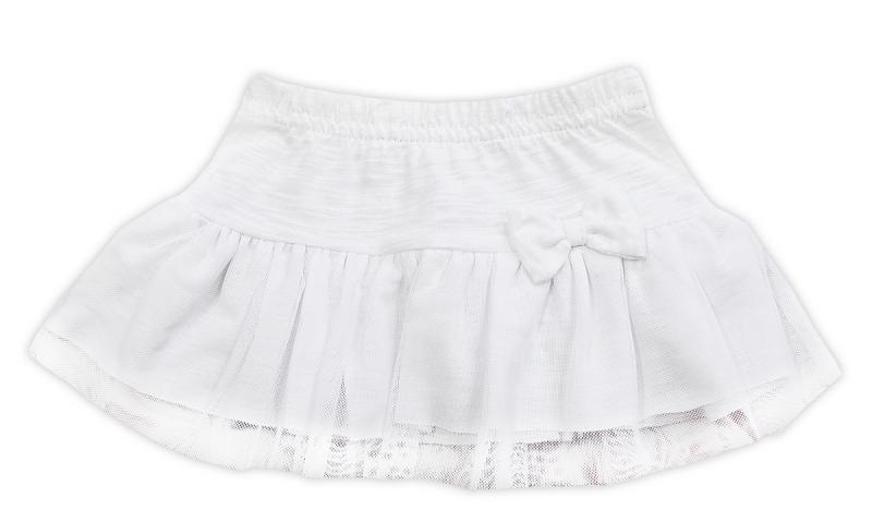 Tutu suknička NICOL ELEGANT BABY GIRL - mašlička, bílá, vel. 80