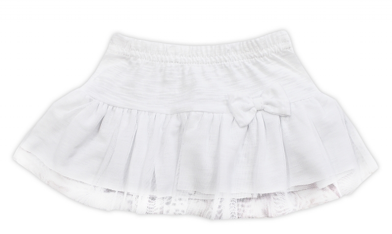 Tutu suknička NICOL ELEGANT BABY GIRL - mašlička, vel. 98, bílá