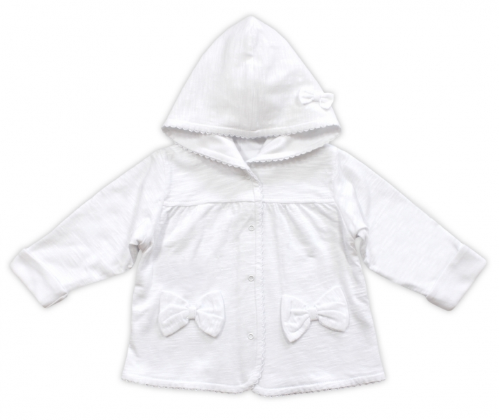 Bundička/kabátek NICOL ELEGANT BABY GIRL, vel. 98, bílá