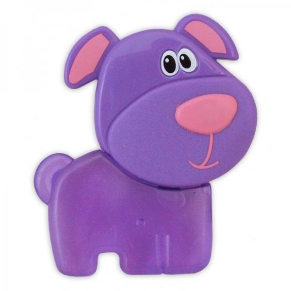 BABY MIX Kousátko gelové - Pejsek fialový