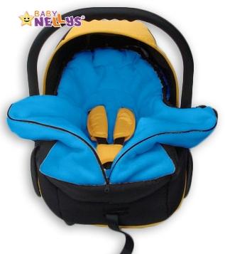 Fusák nejen do autosedačky Baby Nellys ® POLAR - modrý medvídek