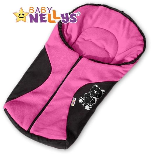 Fusák nejen do autosedačky Baby Nellys ® POLAR - sv. růžový medvídek