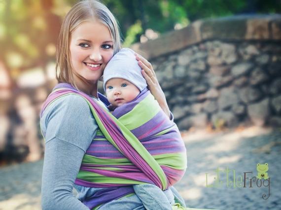 Little FROG Tkaný šátek na nošení dětí - ALEXANDRITE, Velikost: XL