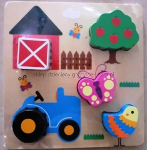 Vkládačka dřevěná Baby Mix -Farma