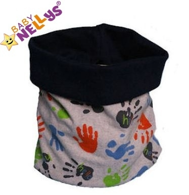 Nákrčník/komínek s ručičkami Baby Nellys ® - šedý