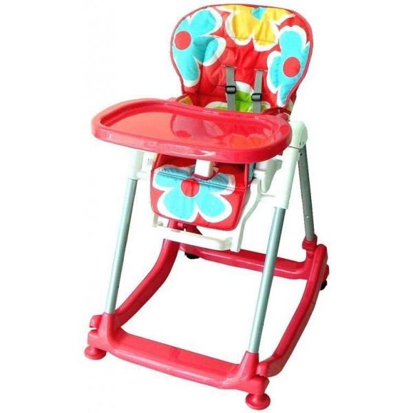 Jídelní stoleček BABY MIX - červený s kytičkami