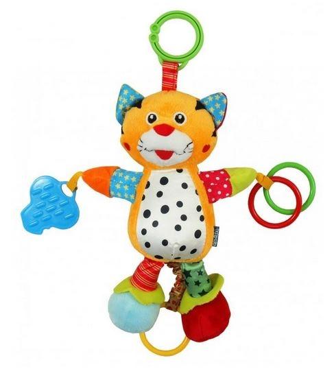 BABY MIX Plyšová hračka nejen do kočárku s hudbou - Tygr