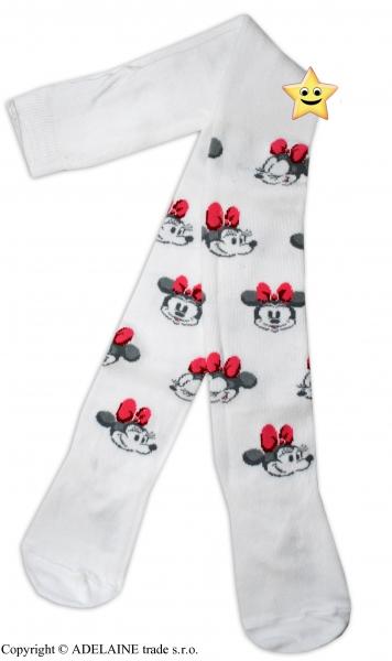 Bavlněné punčocháčky Disney Minnie  - bílé