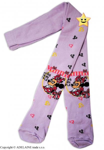 Bavlněné punčocháčky Disney Minie v šatičkách - lila