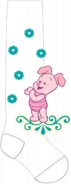 Froté punčocháčky Disney Prasátko - bílé