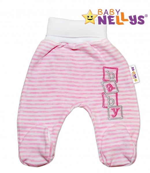 Polodupačky Baby Nellys ® Baby Bear - růžový proužek, Velikost: 80 (9-12m)