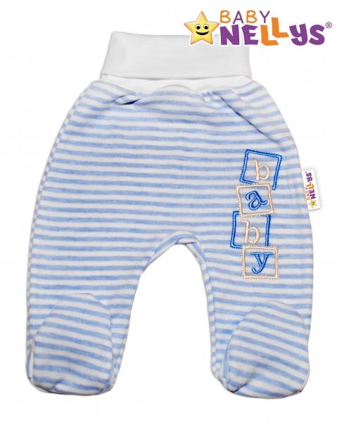 Polodupačky Baby Nellys ® Baby Bear - sv. modrý proužek