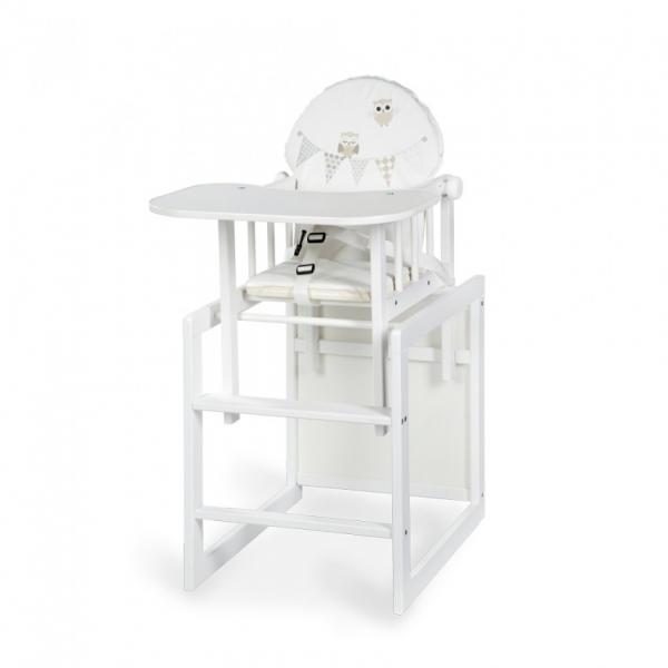 Klups Jídelní židlička Anežka III Sovičky bílá