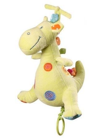 BabyOno Edukační plyšová hračka s hracím strojkem - Dino - zelený