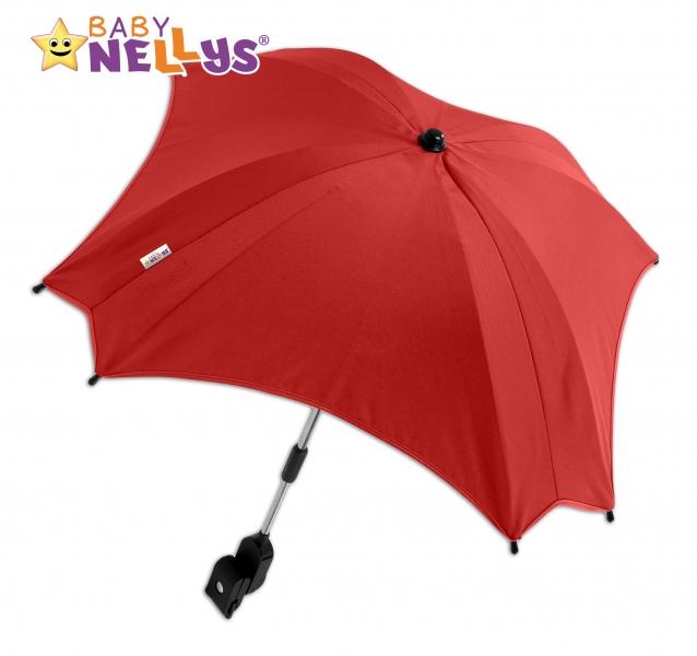 Slunečník, deštník do kočárku Baby Nellys ® - červený (barva: červená)