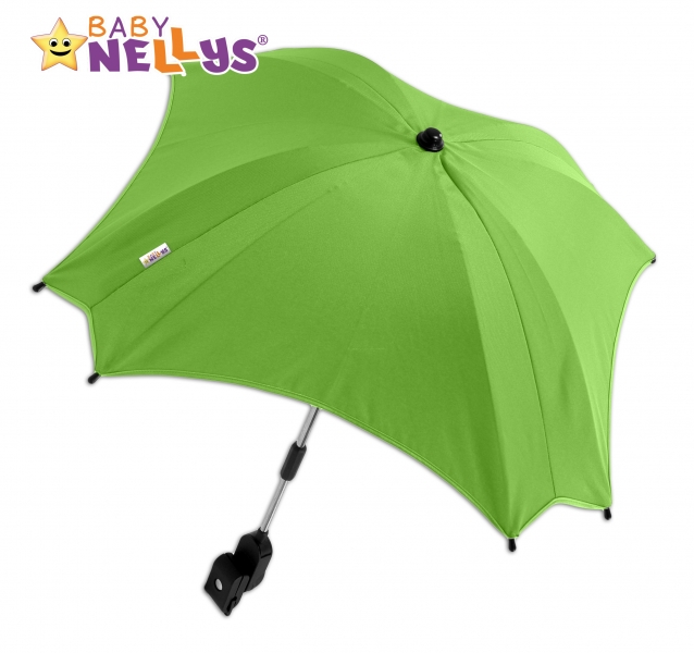 Slunečník, deštník do kočárku Baby Nellys ® - zelený (barva: zelená)