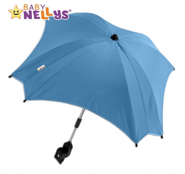 Slunečník, deštník do kočárku Baby Nellys ® - modrý (barva: modrá)