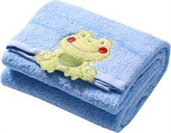 Luxusní ručník Baby Ono - modrá žabka