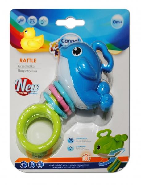 Chrastítko, kousátko Canpol Babies - Velryba modrá