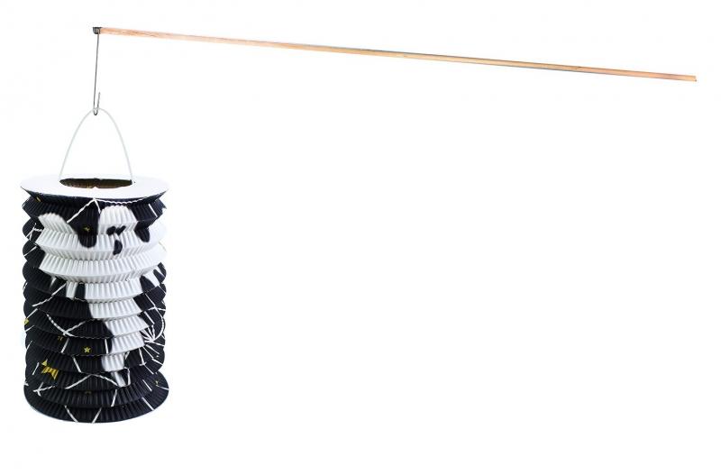 Lampion s dřevenou hůlkou Halloween 15 cm