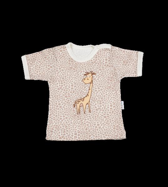 Tričko kr. rukáv - Žirafka, Velikost: 80 (9-12m)