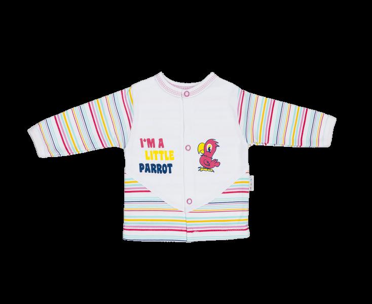 Bavlněná košilka Mamatti - Papoušek, Velikost: 80 (9-12m)