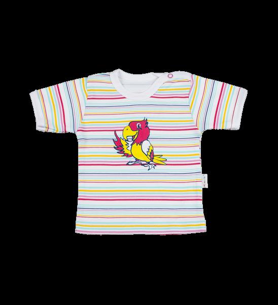 Tričko kr. rukáv - Papoušek, Velikost: 74 (6-9m)
