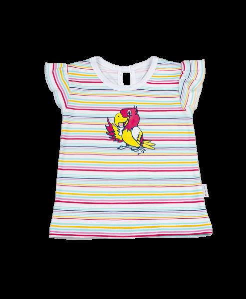 Halenka/tričko kr. rukáv - Papoušek, Velikost: 98 (24-36m)