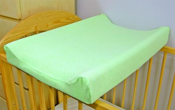 Jersey potah na přebalovací podložku, 60cm x 80cm  - zelený
