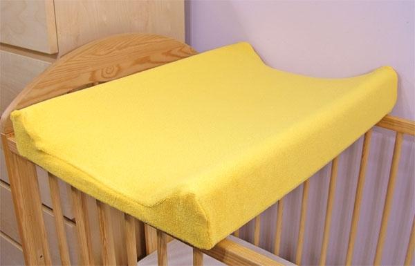 Jersey potah na přebalovací podložku, 60cm x 80cm - žlutý