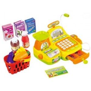 Dětská pokladna elektronická s doplňky - žlutá (barva: žlutá, EBZ16656B)