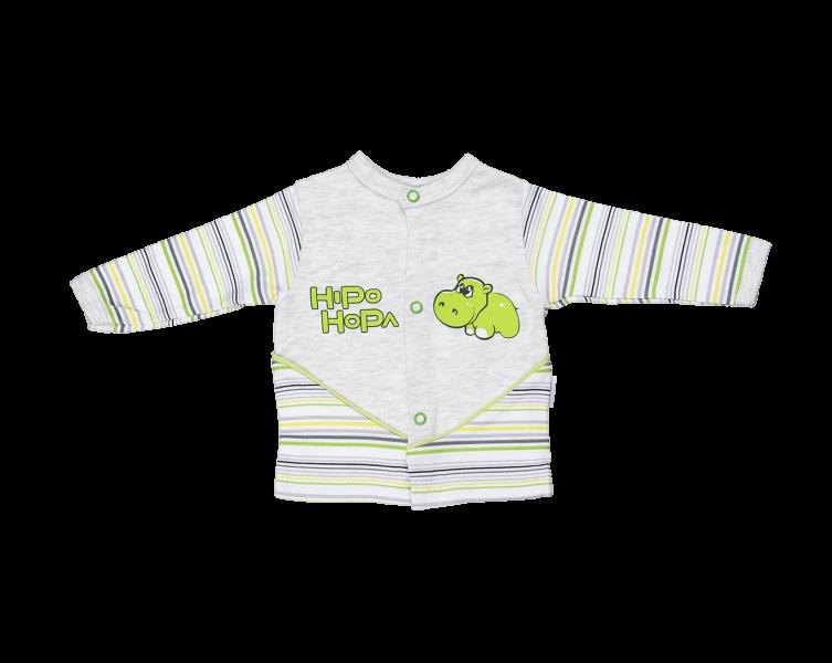 Bavlněná košilka Mamatti - Hippo, Velikost: 80 (9-12m)