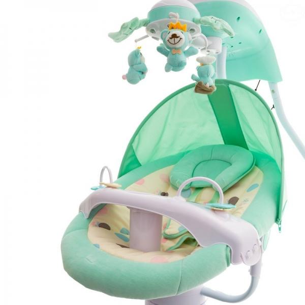 Euro Baby Dětská elektrická houpačka a lehátko - zelené, D19