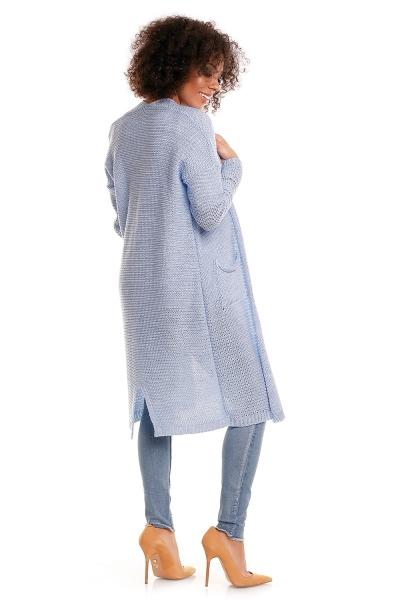 Be MaaMaa Svetříkový plášť s kapsami MERY - jeans